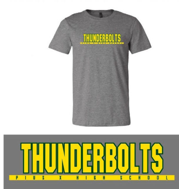 gray t-shirt thunderbolts