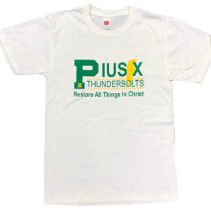 pius x thunderbolts t-shirt